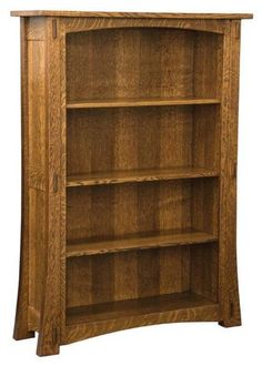 "Amish Modesto Mission Bookcase The Modesto Mission Bookcase offers a versatile style. Pick from 6 wood types and 6 sizes, ranging from 36"" up to 84"" high. Amish made in Indiana."