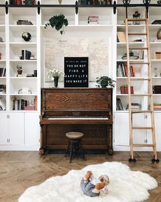 Staggering Cool Tips: Dining Furniture Chairs dining furniture makeover fabrics.Dining Furniture Makeover Style dining furniture design home. Home Music Rooms, Home Library Rooms, Modern Rustic Furniture, Outdoor Dining Furniture, Contemporary Furniture, Antique Furniture, Modern Contemporary, Piano Living Rooms, Living Room Furniture