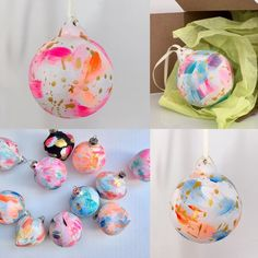 """Hello Sunshine Designs on Instagram: """". ✨Hand painted splatter paint ceramic baubles ✨ are starting to pop up in my @etsy shop . Link is in my bio 👆🏻 . #christmasinjuly…"""" Seaside Art, Hello Sunshine, Christmas In July, Paint Splatter, Hand Painted Ceramics, Ceramic Painting, Handmade Christmas, Cornwall, Pop Up"""
