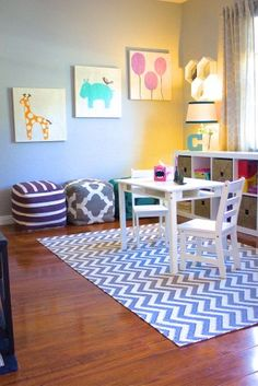 Children's Playroom. Check out the whole project at http://www.jhillinteriordesigns.com/ #Jhillinteriordesigns