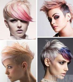 kort zilvergrijs haar met gekleurd haar lagen - Google zoeken Pixie Hairstyles, Pixie Haircut, Cute Hairstyles, Homemade Mocha Frappe, Good Hair Day, New Hair, Hair And Nails, Hair Makeup, Hair Cuts