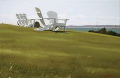 Castle Hill Sunshine Club by JOHN F. BURK, III, 2009, acrylic on canvas