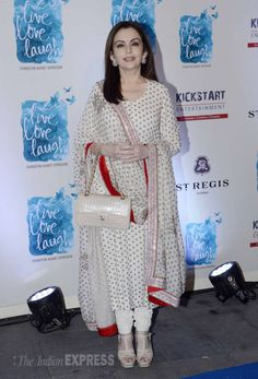 Nita Ambani at the launch of Deepika Padukone' NGO 'Live Love and Laugh'. #Page3 #Fashion #Style #Beauty #Desi