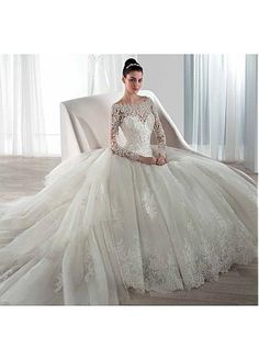 Fabulous Tulle Bateau Neckline 2 in 1 Wedding Dresses with Beaded Lace Appliques