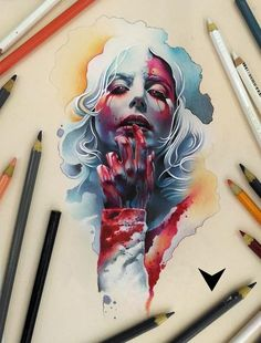Shared by Ultimo trabalho by Vareta Art Tattoo Sketches, Tattoo Drawings, Body Art Tattoos, Art Sketches, Art Drawings, Desenho Tattoo, Flash Art, Color Pencil Art, Tattoo Studio