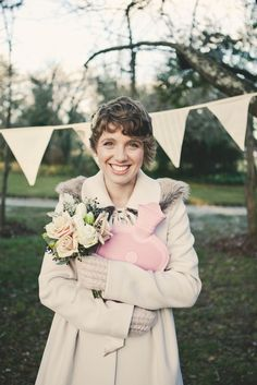 Cute winter bridesmaids style captured by Solas Photography