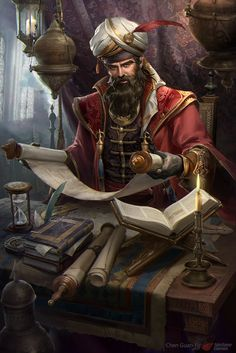 m Wizard Magic Books Lab Library Urban hilvl  by iVAN TAO on ArtStation.