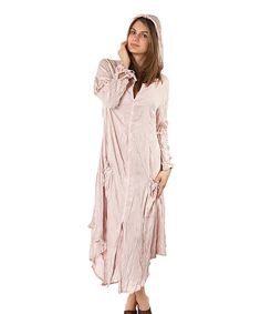 Loving this Powder Zip-Up Hooded Maxi Dress - Women on #zulily! #zulilyfinds