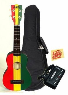 Kala KA-SREG Ukadelic Series Soprano Ukulele Bundle with Gig Bag, Tuner, and Polishing Cloth - Tri-Color Reggae by Kala. $98.00. Bundle includes Kala Ukadelic Series Soprano Ukulele with Gig Bag, Tuner, and Polishing Cloth. Ukadelic captures all that is fun about the ukulele. These colorful ukes incorporate art, culture and humor into their design. They are extremely playable and well made. We like em' and we think that you will too. We will go so far as to say...