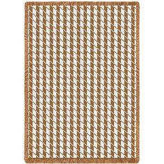 Houndstooth Art Tapestry Throw, Tan/Cream