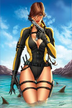 Lara Croft Tomb Raider -- for more comic girls, visit my board http://pinterest.com/davidos193/retro-comic-girls/