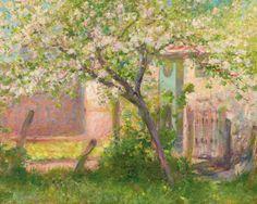ROBERT WILLIAM VONNOH (1858-1933) CHERRY TREE, CIRCA 1890 Huile sur toile 60 x 75 cm - 363/4 x 291/2 in. Oil on canvas. Painted circa 1890
