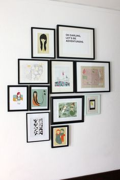 Some rules and hints for hanging art groupings on the wall. #rowenamurillo