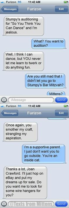 Love Texts from Mittens.