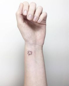 Little Four Leaf Clover Tattoo by Cagri Durmaz