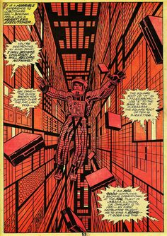 2001: A Space Odyssey comic book page.