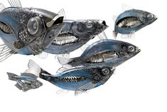 Metal fish of Edouard Martinet
