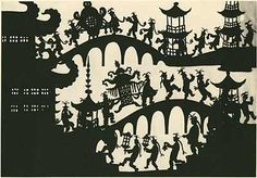 Lotte Reiniger: The Adventures of Prince Achmed, Ocelot, Papier Diy, Illustration Story, First Animation, Around The World In 80 Days, Shadow Puppets, Floral Illustrations, Film Stills, Stop Motion