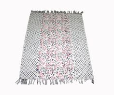 New Handmade Persian Oriental White Cotton Kilim Hand Block Print Vintage Kilim Rugs On Carpet, Carpets, Small Rugs, Carpet Runner, Floor Rugs, Persian Rug, Kilim Rugs, Printer, Area Rugs