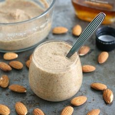 Homemade Maple Almond Butter - easy to make at home, and for a fraction of the cost of store-bought!