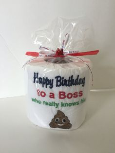 Personalized Toilet Paper - Funny Father\'s Day Gift - Bosses Gift ...