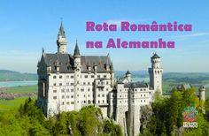 """Um roteiro turístico muito procurado por viajantes que curtem cidades pequenas e poéticas é percorrer as estradas da """"Romantische Straße"""" ou rota romântica - Revirando Mundo - Viagem & Turismo - O blog Revirando Mundo tem conteúdo sobre roteiros descomplicados no Brasil e Exterior e assessoria em viagens Brasil e Exterior. Descubra dicas de viagem e turismo pelo mundo! - Autobahns, Baviera Alemã, burgos, Dinkelbühl, Frankfurt, Füssen, Gasthaus, Hohenschwangau, Neuschwanstein, Nördlingen…"""