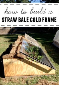 How to Build a Straw Bale Cold Frame:  it's 40 degrees warmer in there than it is outside! Like a mini greenhouse #gardening #plants