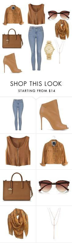"""Untitled #98"" by katerinahood on Polyvore featuring Topshop, Casadei, Madewell, DKNY, River Island, Alexander McQueen, Lana and Michael Kors"