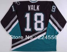 a321c32b9a9 Find More Sports Jerseys Information about 1993 94 Garry Valk Ice Hockey  Anaheim Mighty Ducks Game  18 hockey Jersey Customized Any Number Name Sewn  On (XXL ...