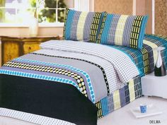 Le Vele Delma Duvet Cover Bed in Bag King Size Bedding Set LE185K by Le Vele. $163.99. 2 x Pillow Cases: 20 x 30. Decorate your bedroom with this modern duvet cover set fearing an array of stripes with pock-dots and shades of blue and lime green.. 1 x Duvet Cover: 104 x 92. Package Content and Sizes in Inches:1 x Fitted Bed Sheet: 78 x 80 x 10 deep. Decorate your bedroom with this modern duvet cover set fearing an array of stripes with pock-dots and shades of blue and lim...