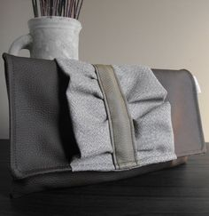 Envelope Clutch Handbag Purse Vegan Faux by AtlanticCrossing, $50.00
