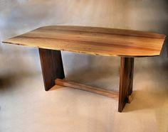 QuarterSawn Sycamore & Walnut Trestle Table