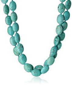 """#Sterling #Silver #Turquoise Double Strand #Necklace with Toggle Closure,17.5"""" #Amazon #Curated #Collection #amazonwishlist #christmas #gift #shopping #shop #fashion #style #xmas #jewelry #gifts #forher"""