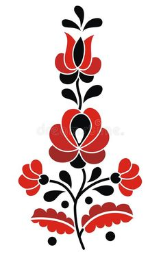 Photo about Traditional authentic multicolor hungarian motif. Illustration of pattern, beautiful, folk - 68162968 Hungarian Tattoo, Hungarian Embroidery, Diy Tie Dye Techniques, Paper Flower Patterns, Polish Folk Art, Folk Art Flowers, Christmas Typography, Flower Outline, Traditional Tattoo Design