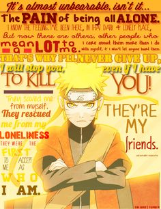 One of the best quotes from Naruto. <3