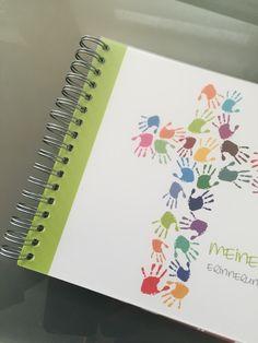 Beispiel für ein Gästebuch mit Spiralbindung (hier Kommunion / Konfirmation)