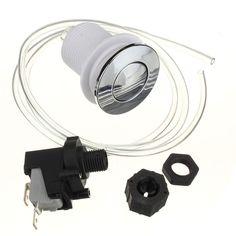 ST Eliminación de Residuos de Basura interruptores Interruptor de Botón de Auto-Bloqueo de Aire Neumático Manguera De Aire