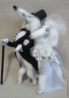Купить Барон фон Такс с супругой баронессой Соней - чёрно-белый, собака, такса, свадьба