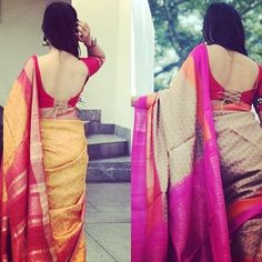 New Blouse Designs, Saree Blouse Designs, Indian Blouse, Indian Sarees, Back Neck Designs, Saree Blouse Patterns, Indian Designer Wear, Indian Style, Indian Fashion