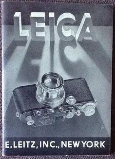 Via @IMargolius Timeless typography design for Leica brochure with 3D font + shadows + camera