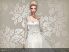BEO Creations: Wedding Dress 28 • Sims 4 Downloads Check more at http://sims4downloads.net/beo-creations-wedding-dress-28/