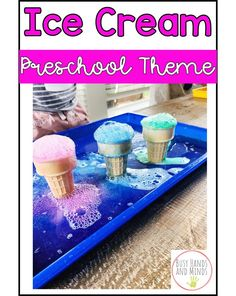 It is getting warmer around here, which means we are thinking ahead to sunny days and plenty of ICE CREAM! Summer Preschool Themes, Me Preschool Theme, Summer Crafts For Toddlers, Preschool Science, Preschool Lessons, Preschool Activities, Preschool Centers, Preschool Curriculum, Kindergarten Classroom