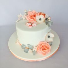 Small wedding cake  by Layla A - http://cakesdecor.com/cakes/279766-small-wedding-cake