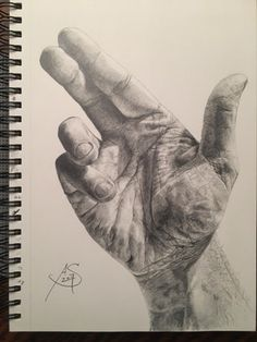 My Hand - Graphite on Paper - 9x12 : Art