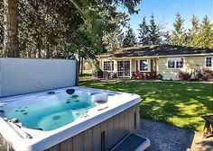Orcas Island, #sanjuanislands vacation rental. With spectacular views of Olympic Mts & Deer Harbor marinas, this spacious home sits at the water's edge within a 3+ acre family compound. A great location for kayaking & beachcombing, with level lawns for games and a hot tub. #travel