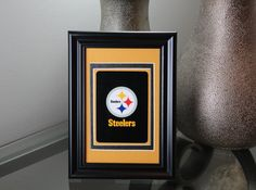 Pittsburgh Steelers 4x6 Authentic Playing Card Desk Display by SinCityDisplays