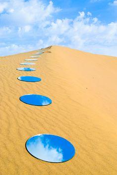 Desert Mirrors Installation for Dreams Project by Shirin Abedinirad