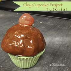 clay cupcake elementary school project