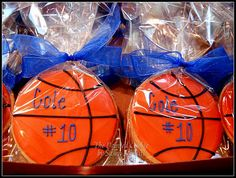 The Painted Cookie: Basketball Birthday Favors