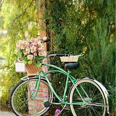 Image result for FLOWER BASKET ON BIKE PHOTO